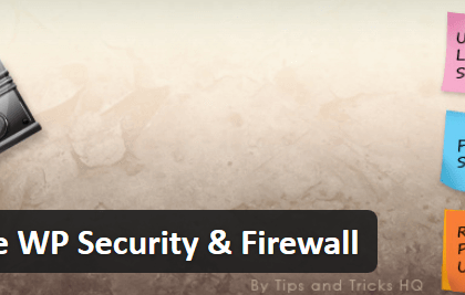 All In One WordPress Beveiliging met firewall
